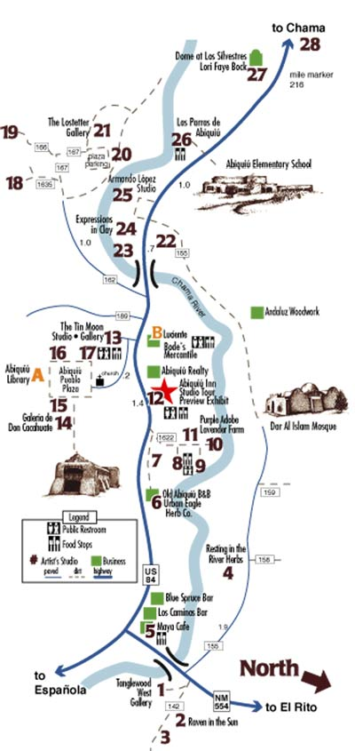 Abiquiu Studio Tour Map